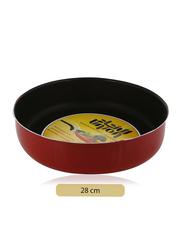 Union 28cm Non-Stick Aluminium Round Cake Pan, Red/Black