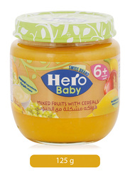 Hero Baby Mixed Fruits with Cereals Jar, 125g
