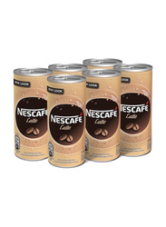 Nescafe Ready To Drink Latte Chilled Coffee, 6 Cans x 240ml