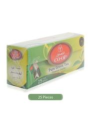 CO-OP Premium Quality Pure Green Tea, 25 Tea Bags x 2g