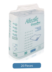 Affective Cover Pro Bed Protector Sheet, 20 Pieces, White
