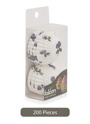 Falcon 6.5cm 200-Pieces Cake Cup, Floral, White