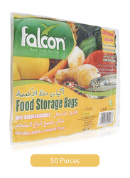 Falcon Extra Large Food Storage, 50 Bags, 52 x 23 cm