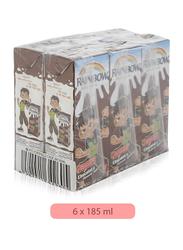 Rainbow Chocolate Flavored Milk, 6 x 185ml