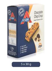 Atkins Chocolate Chip Crisp Bar, 5 Bars x 30g