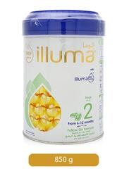 Wyeth Nutrition Illuma Stage 2 Super Premium Follow-On Formula Milk for Babies, 6-12 Months, 12347366, 850g