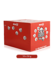 Meiji Hello Panda with Chocolate Flavored Filling Biscuits, 10 x 50g