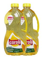 Coroli Corn Cooking Oil, 2 Bottles x 1.8 Liter