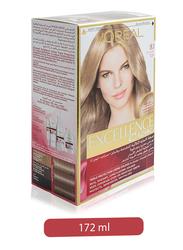 L'Oreal Paris Excellence Creme Hair Color, 8.1 Ash Light Blonde, 172ml