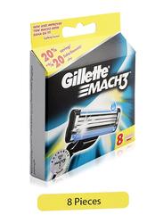 Gillette Mach3 Razor Blade for Men, 8 Pieces