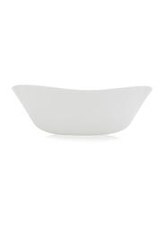 Al Hoora Hobnail Ceramic Round Salad Bowl, White