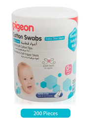 Pigeon 200-Pieces Extra Thin Stem Cotton Swabs for Babies