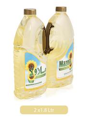 Mazola Sunflower Oil, 2 Tins x 1.8 Liter