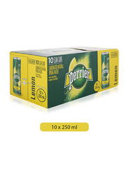 Perrier Citron Sparkling Water, 10 Cans x 250ml