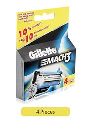 Gillette Mach3 Razor Blade for Men, 4 Pieces