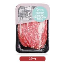 Senora Gourmet Smoked Beef Bacon, 220 g