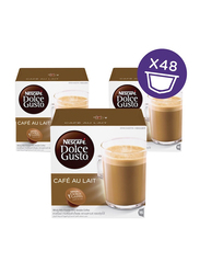Nescafe Dolce gusto Cafe Au Lait Coffee Capsules, 16 Capsules, 3 Boxes x 160g