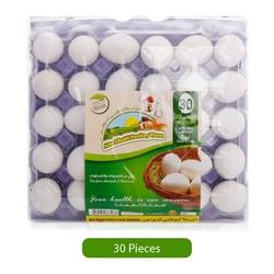 Abudhabi PouLitersy Farm White Eggs, Medium, 30 Pieces