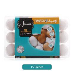 Jenan Omega 3 Eggs Large, 15 Eggs