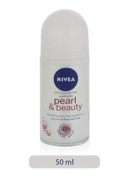 Nivea Pearl & Beauty Anti-Perspirant Deodorant Roll-On for Women, 50ml