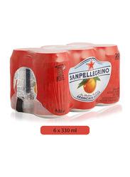 S.Pellegrino Sparkling Blood Orange Juice Drink, 6 Cans x 330ml