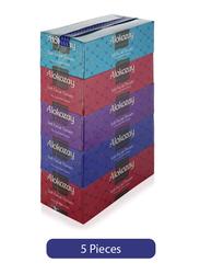 Alokozay Soft White Facial Tissues, 5 Boxes x 150 Sheets x 2 Ply