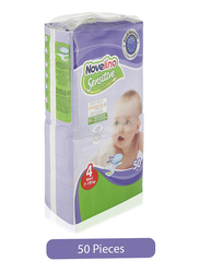 Novelino Sensitive Chamomile Baby Diapers, Size 4, Maxi, 7-18 kg, 50 Count