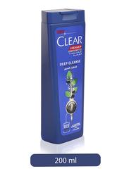 Clear Men's Deep Cleanse Anti-Dandruff Shampoo for Oily Hair, 200ml