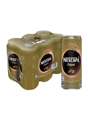 Nescafe Ready To Drink Original Chilled Coffee, 6 Cans x 240ml