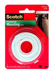 3M Scotch Mounting Heavy Duty Roll Tape, 1 x 50 Inch, White