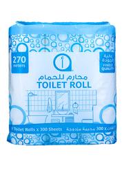 Aswaaq Toilet Rolls, 9 Rolls x 300 Sheets x 2Ply