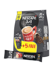 Nescafe 3 in 1 Strong Intenso Coffee, 35 Sachet x 20g