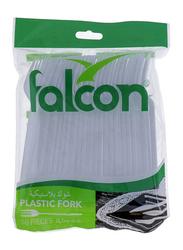 Falcon 50-Pieces Plastic Fork, White