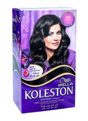 Wella Koleston Color Cream Kit, 2/0 Black, 142ml
