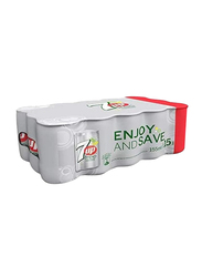 7 Up Free Soft Drink, 15 Can x 155ml
