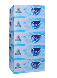 Fine Classic White Sterilized Tissues, 5 Boxes x 200 Sheets x 2Ply