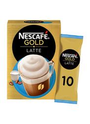 Nescafe Gold Latte Unsweetened Taste Coffee, 10 Sachets x 19.5g