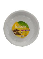 Falcon 22cm 25-Pieces M8 Plastic Round Plate, White