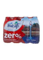 Masafi Zero Sodium Free Mineral Water, 12 Bottles x 330ml