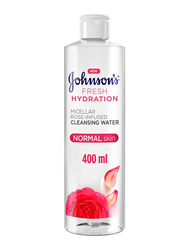 Johnson's Fresh Hydration Rose-Infused Cleansing Micellar Water, 400ml