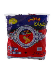 Oman Chips Potato Chilli Flavor Chips, 24 Packs x 15g