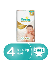 Pampers Premium Care Diapers Size 4, Maxi, 8-14 kg, Jumbo Pack, 66 Count