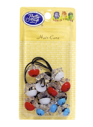 Pretty Miss Ponytails Hair Ties, Blue/Red/White, 6 Pieces