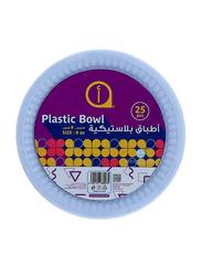 Aswaaq 8oz 25-Pieces M15 Plastic Round Bowl, White