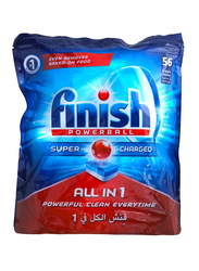 Finish All in 1 Original Dishwasher Detergent Tablets, 56 Tablets, 966g