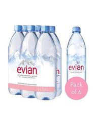 Evian Prestige Natural Mineral Water, 6 Bottles X 1.25 Liter