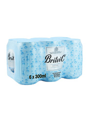 Britvic Soda Water, 6 Cans x 300ml