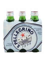 San Pellegrino Natural Sparkling Mineral Water, 6 Bottles x 250ml