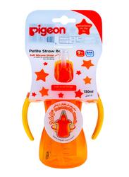 Pigeon Petite Soft Silicone Straw Bottle, 150ml, Orange