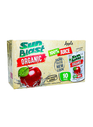 SunBlast Organic Apple Juice Drink, 10 Packets x 200 ml